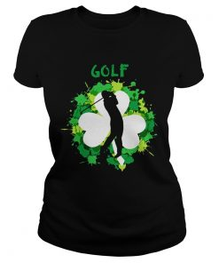 Ladies Tee Golf Shamrock Irish St Pattys Day Sport Shirt
