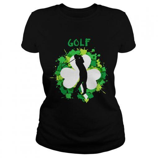 Ladies Tee Golf Shamrock Irish St Pattys Day Sport Shirt