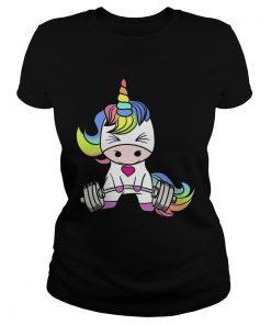 Ladies Tee Gym baby Unicorn shirt