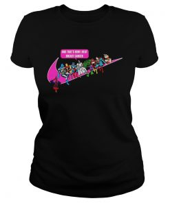 Ladies Tee Jesus and Superhero and thats how I beat breast cancer shirt