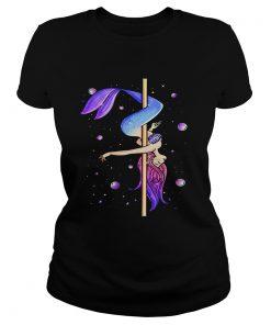 Ladies Tee Mermaid pole dancing shirt