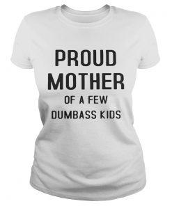 Ladies Tee Proud mother of a few dumbass kids shirt