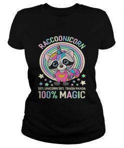 Ladies Tee Raccoonicorn 50 Unicorn 50 Trash Panda 100 Magic shirt