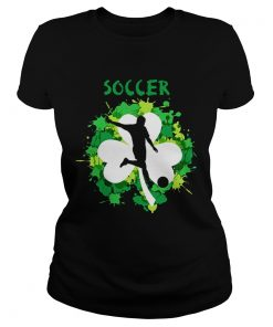 Ladies Tee Soccer Shamrock Irish St Pattys Day Sport Shirt
