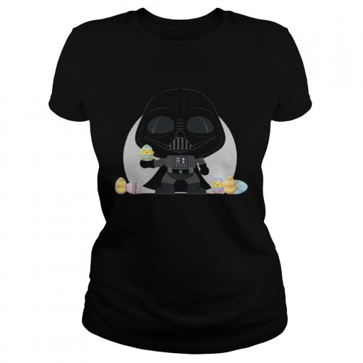 Ladies Tee Star Wars Darth Vader Kawaii Easter Funny Cartoon Shirt