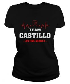 Ladies Tee Team Castillo lifetime member shirt