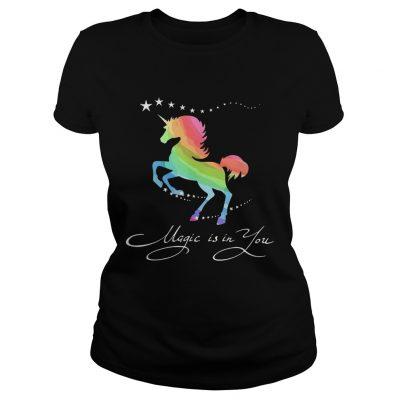 Ladies Tee Unicorn magic in you shirt