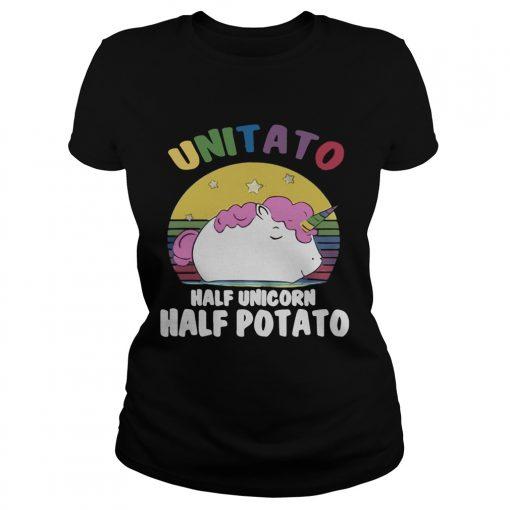 Ladies Tee Unitato half unicorn half potato shirt