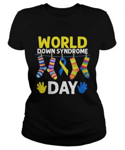 Ladies Tee World down syndrome day shirt