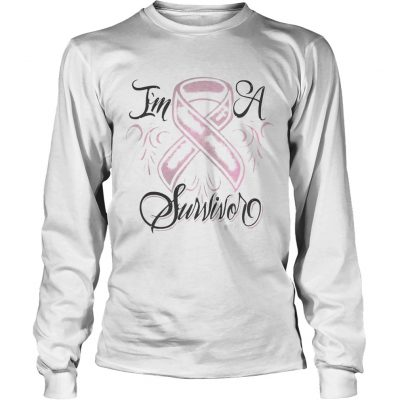 Longsleeve Tee Breast cancer Im a Survivor shirt