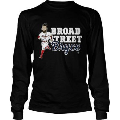 Longsleeve Tee Broad Street Bryce Harper Phillies WoMenTShirt