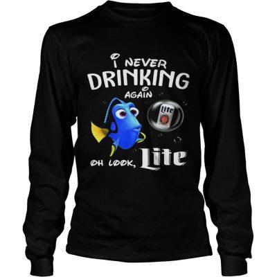 Longsleeve Tee Disney Funny Dory Im Never Drinking Again For Nite Lover Shirt