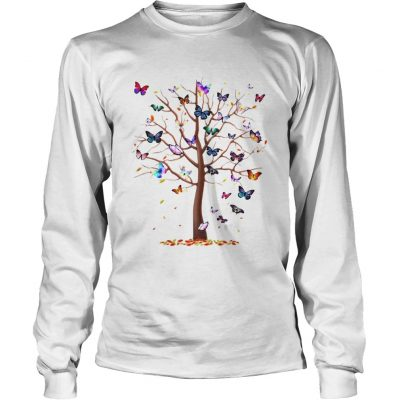 Longsleeve Tee Family Butterfly tree for lost people shirt