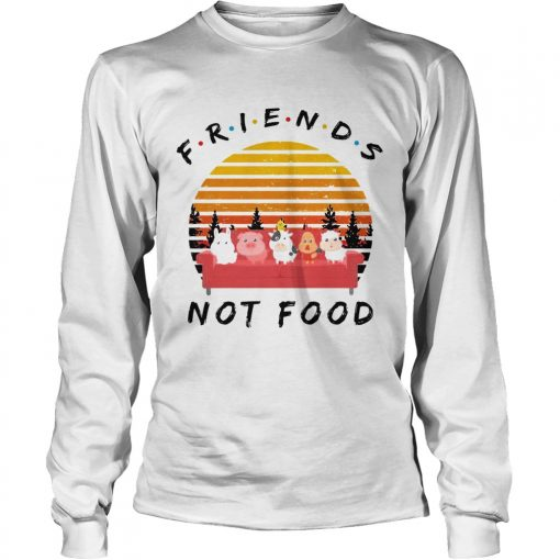 Longsleeve Tee Friends not food vintage sunset shirt