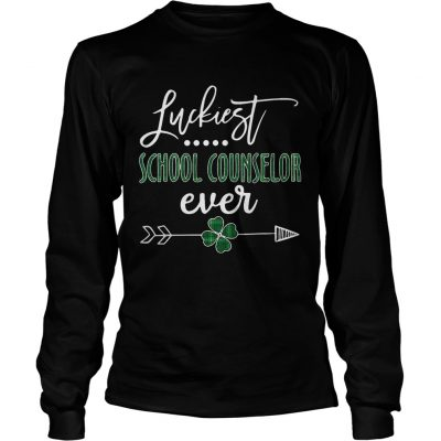 Longsleeve Tee Luckiest School Counselor Ever Irish shirt