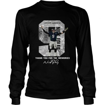 Longsleeve Tee Nick Foles Eagles Thank you for the memories signature shirt
