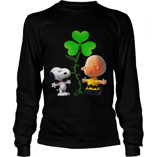 Longsleeve Tee Snoopy and Charlie Brown Snoopy You are my lucky charm shirt