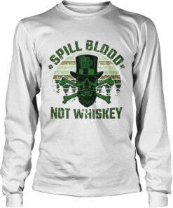 Longsleeve Tee Spill Blood Not Whiskey Unisex TshirtIrish Skeleton Tee