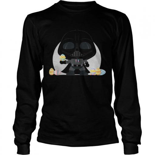 Longsleeve Tee Star Wars Darth Vader Kawaii Easter Funny Cartoon Shirt
