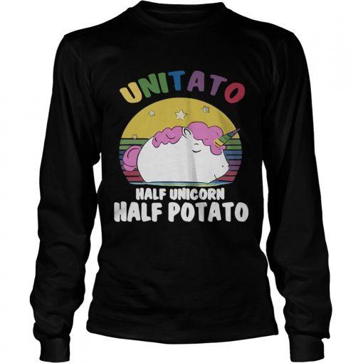 Longsleeve Tee Unitato half unicorn half potato shirt