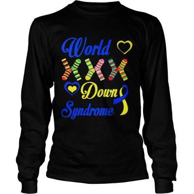 Longsleeve Tee World XXX down syndrome shirt
