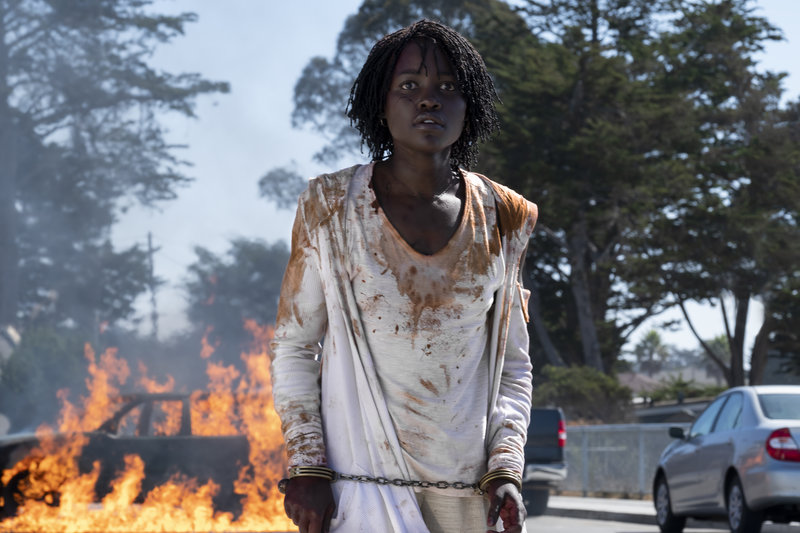 Measure Twice ... Lupita Nyong'o stars in Us, the latest horror film written and directed by Jordan Peele.