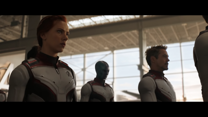 See, there's Tony and Nebula in their suits with the rest of the gang like no big deal