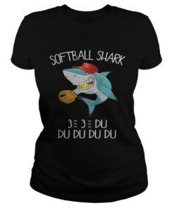 Softball shark du du du du du ladies tee