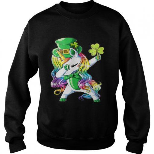 Sweatshirt Dabbing unicorn Irish St Patricks shirt