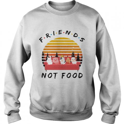 Sweatshirt Friends not food vintage sunset shirt