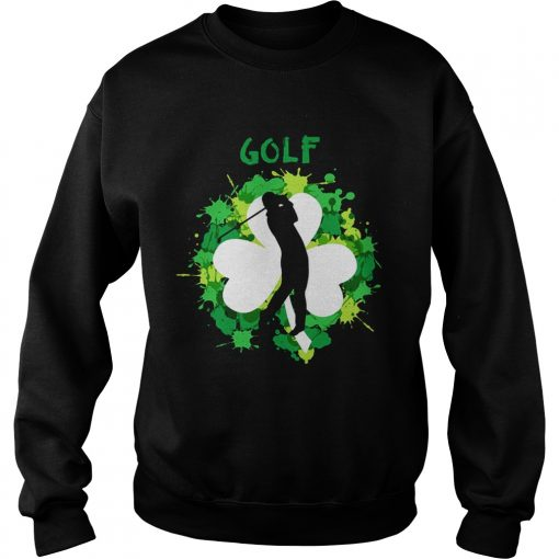 Sweatshirt Golf Shamrock Irish St Pattys Day Sport Shirt