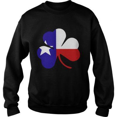 Sweatshirt Irish Texas Flag Shamrock St Patricks TShirt