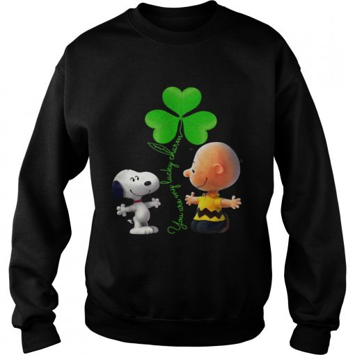 Sweatshirt Snoopy and Charlie Brown Snoopy You are my lucky charm shirt