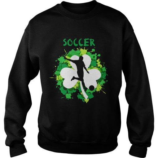 Sweatshirt Soccer Shamrock Irish St Pattys Day Sport Shirt