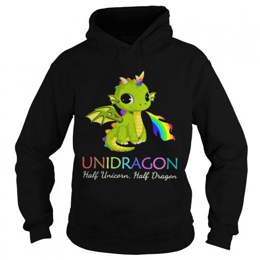 Unidragon half unicorn half unicorn LGBT hoodie