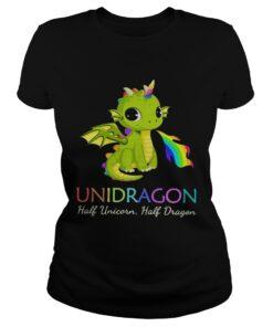 Unidragon half unicorn half unicorn LGBT ladies tee