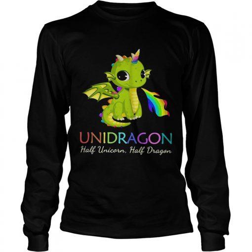 Unidragon half unicorn half unicorn LGBT longsleeve tee