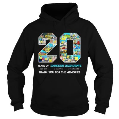 20 years of Spongebob Squarepants thank you for memories hoodie
