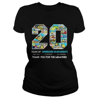 20 years of Spongebob Squarepants thank you for memories ladies tee