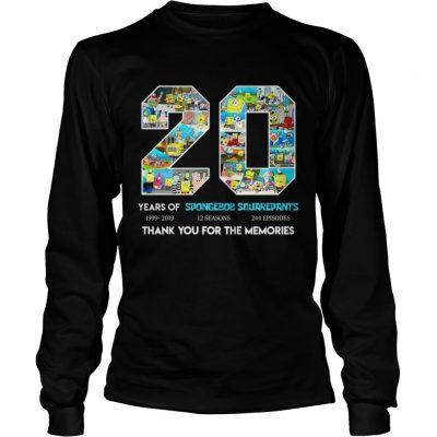 20 years of Spongebob Squarepants thank you for memories longsleeve tee