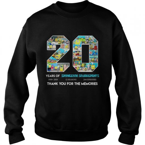 20 years of Spongebob Squarepants thank you for memories sweatshirt