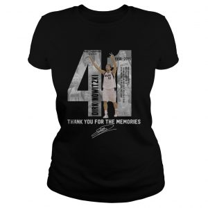 41 Dirk Nowitzki thank you for the memories ladies tee