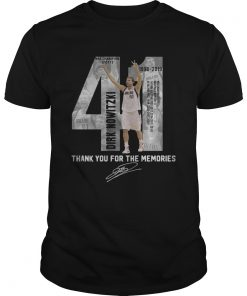 41 Dirk Nowitzki thank you for the memories shirt