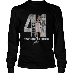 41 Dirk Nowitzki thank you for the memories longsleeve tee