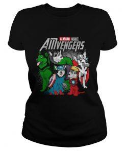 Alaskan Malamute AMvengers Marvel Endgame ladies tee