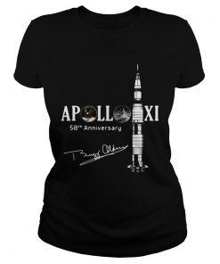 Apollo 11 50th anniversary with Apollo astronaut Buzz Aldrin signature ladies tee
