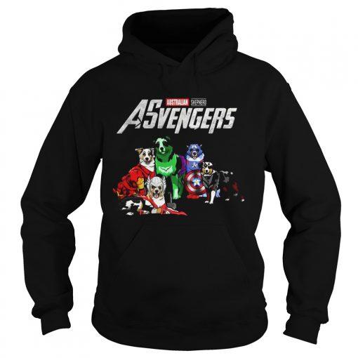 Australian Shepherd Asvengers Marvel Avengers hoodie