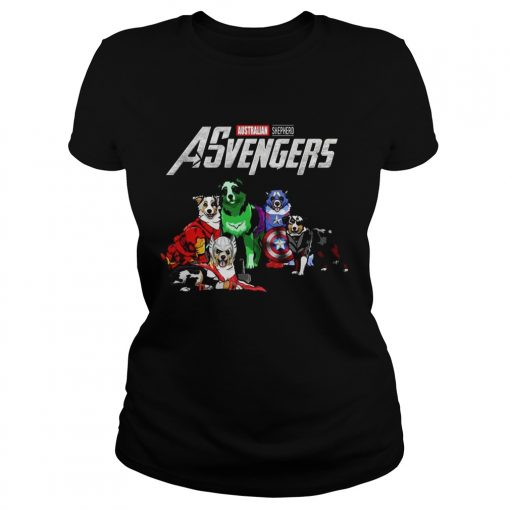 Australian Shepherd Asvengers Marvel Avengers ladies tee