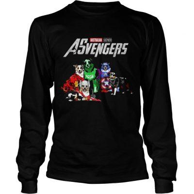 Australian Shepherd Asvengers Marvel Avengers longsleeve tee