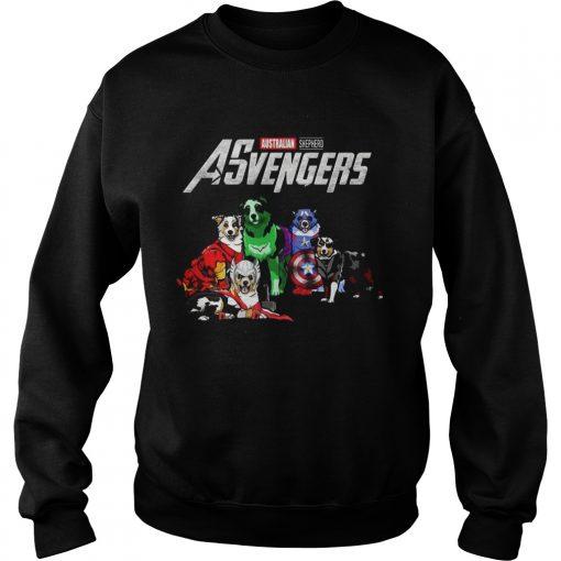 Australian Shepherd Asvengers Marvel Avengers sweatshirt